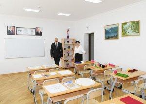 Prezident İlham Əliyev Maştağada 28 nömrəli tam orta məktəbin açılışında iştirak edib-