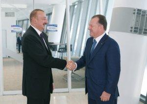 Prezident İlham Əliyev Beynəlxalq Cüdo Federasiyasının prezidenti ilə görüşüb