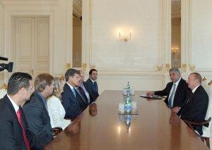 Prezident İlham Əliyev Xüsusi Olimpiya Komitəsinin sədrinin başçılıq etdiyi nümayəndə heyətini qəbul edib