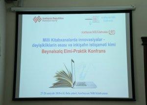 Milli Kitabxananın 95 illiyinə həsr edilmiş elmi konfransda məruzələr dinlənilib