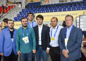 Azərbaycan şahmatçıları Olimpiadada mövbəti oyunlarını keçirib (FOTO)