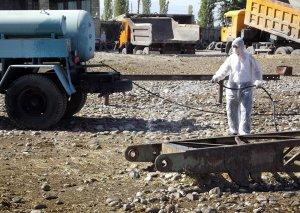 Dövlət Baytarlıq Xidməti diri heyvan satışı bazarlarında dezinfeksiya tədbirləri aparıb