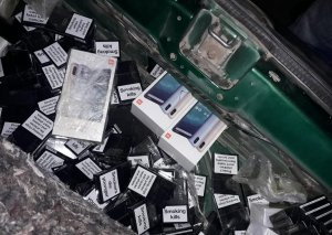 Gürcüstandan Azərbaycana qanunsuz siqaret və mobil telefonlar keçirilməsinin qarşısı alınıb