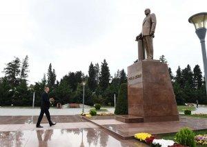 Prezident İlham Əliyev İmişli rayonuna səfərə gəlib
