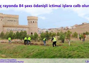 84 nəfər ödənişli ictimai işlərə cəlb olunub