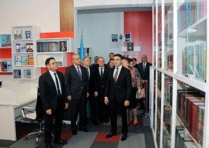 Dövlət Bayrağı Günü ərəfəsində DTX-nin Mədəniyyət Mərkəzində yaradılmış yeni kitabxananın açılışı olub