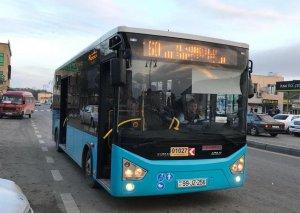 Yeni gətirilən avtobuslar xəttə buraxıldı