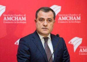 """Ceyhun Bayramov """"AmCham"""" üzvləri ilə görüşüb"""