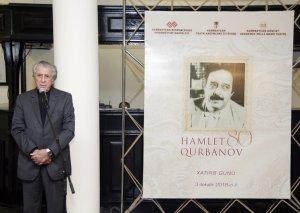 Əməkdar artist Hamlet Qurbanovun xatirəsi yad olunub