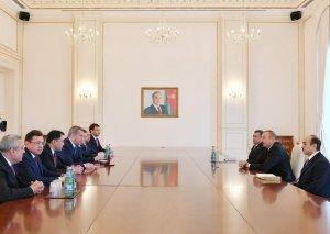 Prezident İlham Əliyev Rusiyanın Həştərxan vilayətinin nümayəndə heyətini qəbul edib