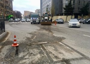 Bakıda yeni yağış-kanalizasiya xətləri çəkilir