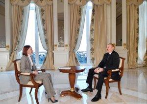 """Prezident İlham Əliyevin """"Rossiya-24"""" telekanalına MÜSAHİBƏSİ"""