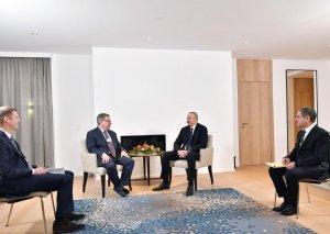 """Prezident İlham Əliyevin """"The Boston Consulting Group"""" şirkətinin prezidenti ilə görüşü olub"""