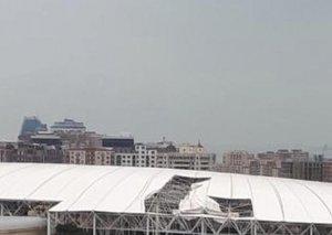 Respublika Stadionunda küləyin uçurduğu dam örtüyünün bərpası üçün xarici mütəxəssislər dəvət olunub