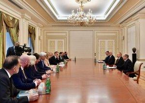 Prezident İlham Əliyev Almaniya nümayəndə heyətini qəbul edib