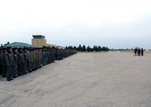 Hərbi Hava Qüvvələrinin hərbi hissəsində təntənəli mərasim keçirilib