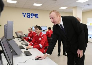 """Prezident İlham Əliyev Sumqayıtda """"SOCAR Polymer""""in yüksək sıxlıqlı polietilen zavodunun açılışında iştirak edib"""