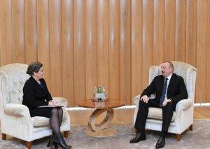 Azərbaycan Prezidenti ABŞ Dövlət katibinin enerji diplomatiyası üzrə müavininin müşaviri ilə görüşüb