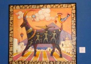 Qobustan qayaüstü təsvirləri Bakıda