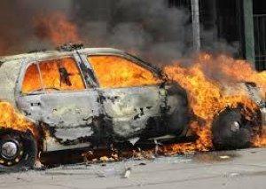 """Bakıda """"İran Khodro"""" avtomobili yanıb"""