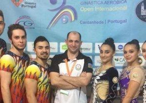 Aerobika gimnastlarımız Dünya Kubokunda çıxış ediblər