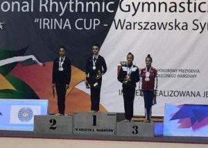 Gənc bədii gimnastlarımız Polşada 5 medal qazandılar