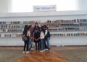 """Milli Kitabxanada """"Çingiz Abdullayev- 60"""" adlı kitab sərgisi açılıb"""