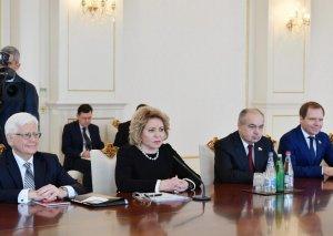 Valentina Matviyenko: Rusiya-Azərbaycan münasibətlərində həlledici rol ölkələrin prezidentlərinə məxsusdur