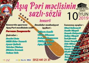 Aşıq Pəri məclisinin konserti olacaq