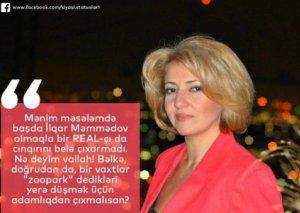 Sevinc Osmanqızıdan REAL Partiyasına ittiham: