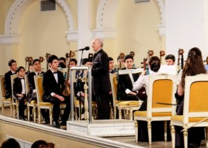Dövlət Xalq Çalğı Alətləri Orkestri Filarmoniyada konsert verib