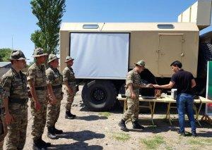 Əməliyyat-taktiki təlimləri çərçivəsində səhra şəraitində təminat məntəqələri yaradılıb