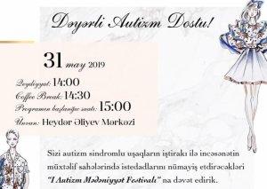 Bakıda Autizm Mədəniyyət Festivalı keçiriləcək