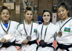 Qadın cüdoçularımız Rumıniyada Avropa açıq kubokunda 4 medal qazanıblar