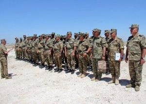 Artilleriya rəisləri ilə toplanış keçirilib