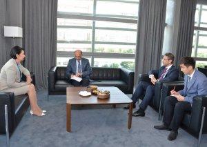 Mədəniyyət naziri Qazaxıstanın Baş nazirinin müavini ilə görüşüb
