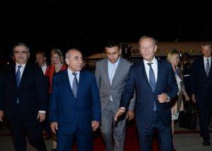 Avropa İttifaqı Şurasının prezidenti Donald Tusk Azərbaycana səfərə gəlib