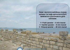 Xəzərin sahilboyu torpaqlarının mühafizəsi ilə bağlı monitorinq qrupları yaradılıb
