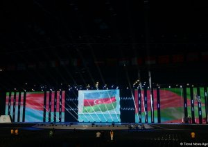 Bakıda XV Avropa Gənclər Yay Olimpiya Festivalının təntənəli açılış mərasimi keçirilib