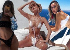 Hadid bacılarından bikinili şou