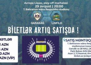 """""""Qarabağ"""" – """"Linfild"""" oyununun biletləri satışa çıxarılıb"""