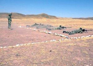 Naxçıvan Qarnizonu Qoşunlarında snayperlərin toplantısı keçirilib