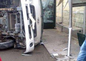 """Bakıda """"Subaru"""" avtobusa çırpılıb piyadaları vurdu, ölən və yaralanan var"""