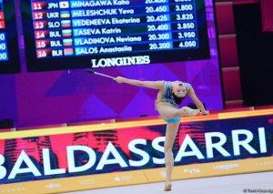 Bədii gimnastika üzrə 37-ci dünya çempionatının 4-cü günü start götürüb