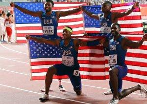 ABŞ komandası dünya atletika çempionatında 4x400 metr estafet üzrə birinci yeri tutub