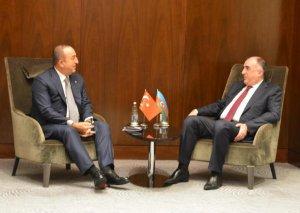 Elmar Məmmədyarov Mövlud Çavuşoğlu ilə görüşüb (FOTO)