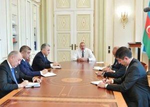 Prezident İlham Əliyev yeni təyin olunmuş icra başçıları ilə görüşdü -