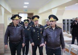 Müdafiə naziri Azərbaycan Ali Hərbi Məktəbinin yeni kursant yataqxanasının açılışında iştirak edib