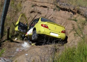 Masallıda avtomobil kanala aşıb, sürücü ölüb