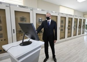 Prezident İlham Əliyev Bakıda yenidən qurulan yarımstansiyasının açılışında iştirak edib